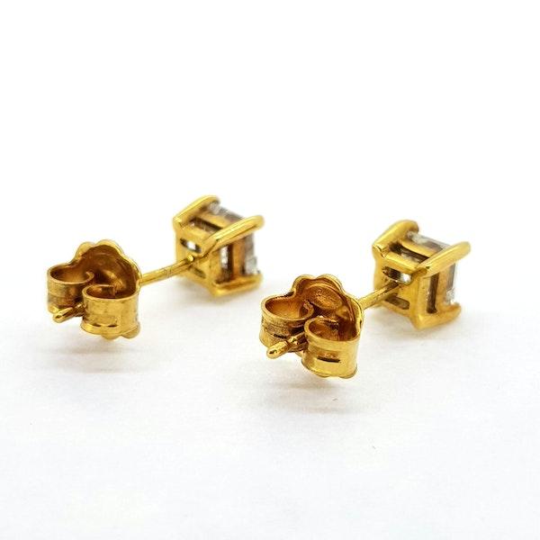 Princess Diamond Earrings Total weight 1.01ct - image 2
