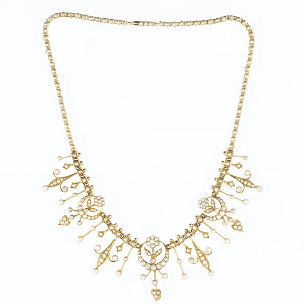 A Gold and Pearl Necklace by Goldsmiths & Silversmiths - image 2