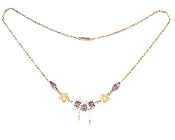 A Gold Amethyst Necklace - image 2