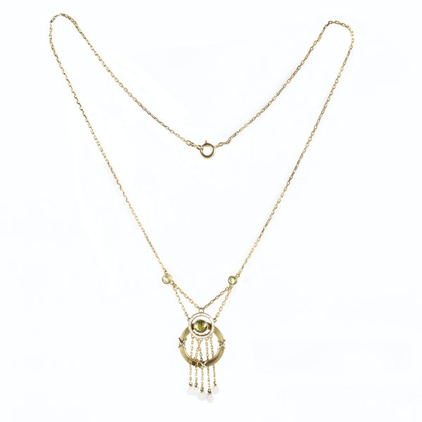 A Belle Époque Pearl and Gold Necklace by Barnet Henry Joseph - image 2