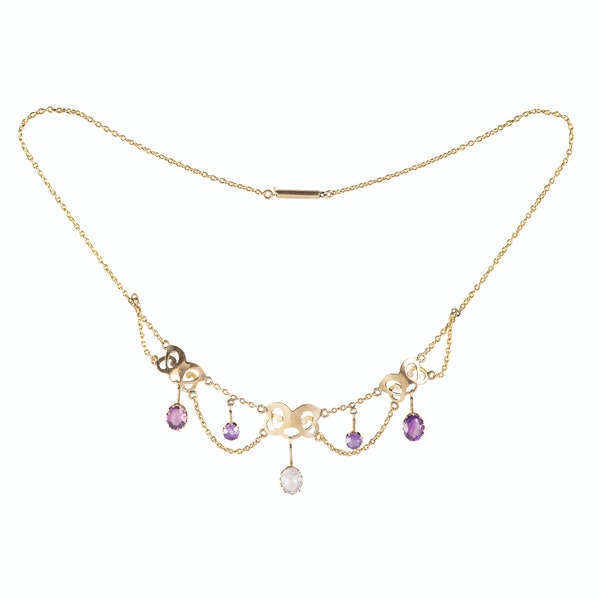 A Gold and Amethyst Necklace - image 1