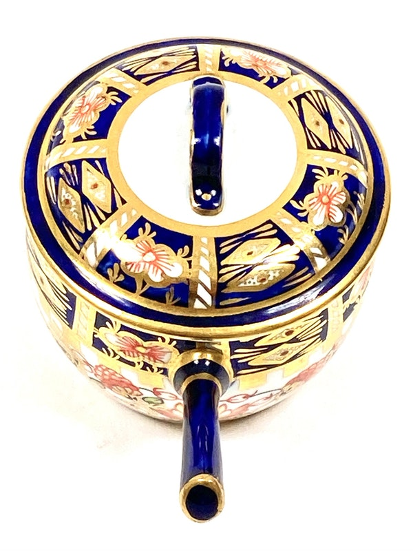 Pair of Royal Crown Derby miniature saucepans & covers - image 4