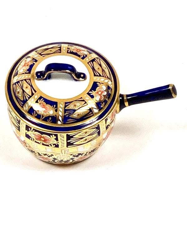 Pair of Royal Crown Derby miniature saucepans & covers - image 3
