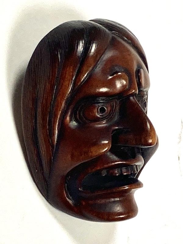 Wood mask Netsuke - image 5
