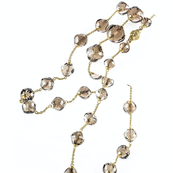 A Smoky Quartz Beaded Necklace - image 2