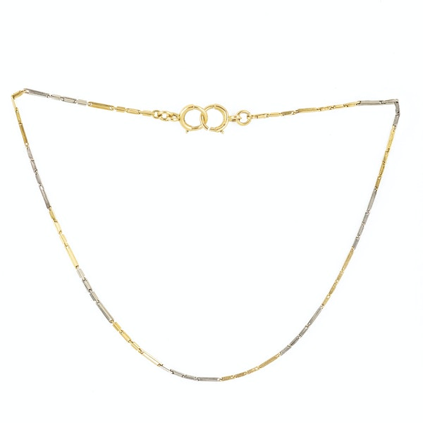 A Platinum and Gold Double Wrap Bracelet - image 2
