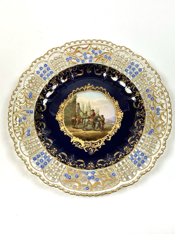 Set of fine reticulated Meissen plates - image 5