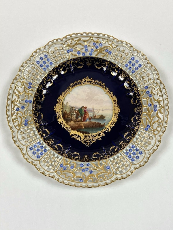 Set of fine reticulated Meissen plates - image 7