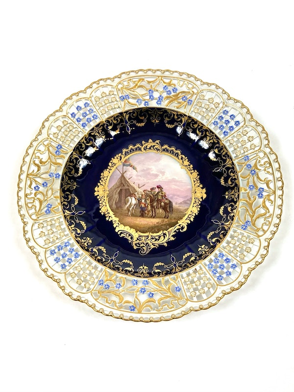 Set of fine reticulated Meissen plates - image 3