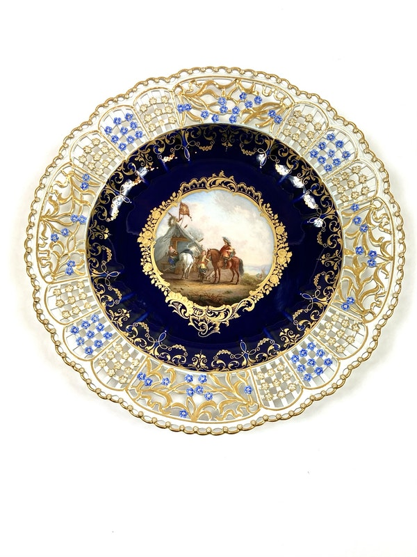 Set of fine reticulated Meissen plates - image 2