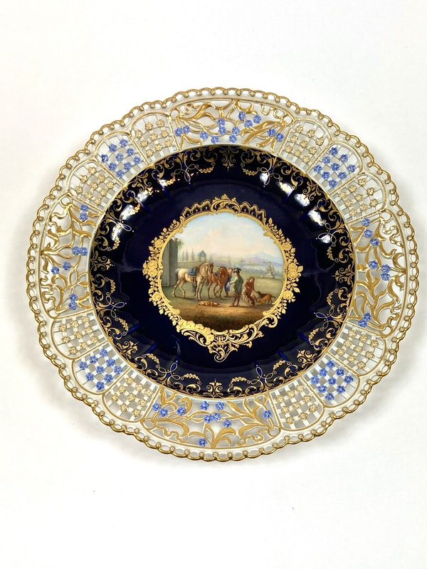 Set of fine reticulated Meissen plates - image 4