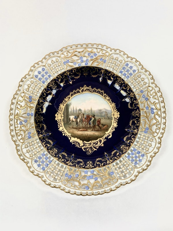 Set of fine reticulated Meissen plates - image 6