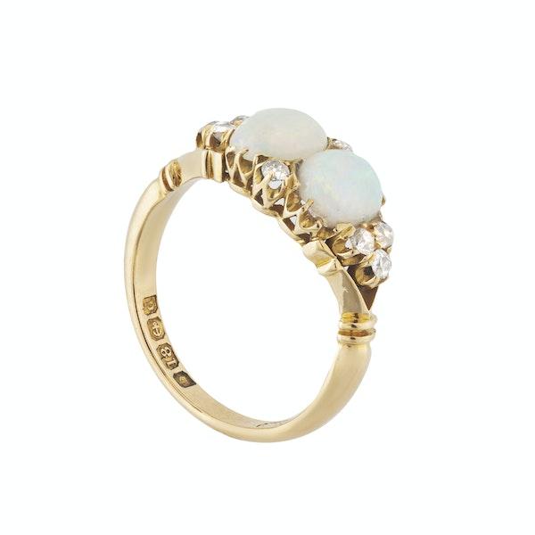 A Double Opal Diamond Ring - image 2