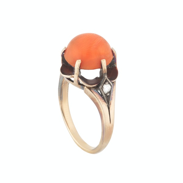 A Coral Diamond Ring - image 2