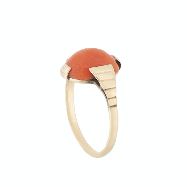 A Gold Coral Ring - image 2