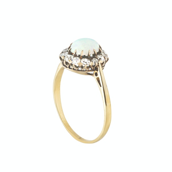 An Opal and Diamond Cluster Ring - image 2
