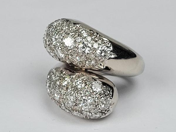 Stylish bombe diamond cross over dress ring sku 4870  DBGEMS - image 2