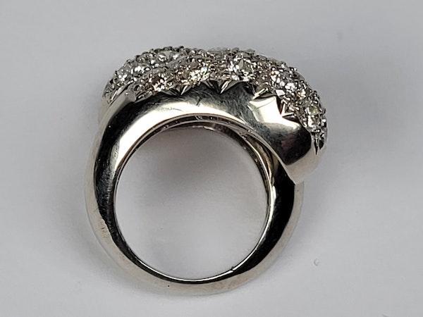 Stylish bombe diamond cross over dress ring sku 4870  DBGEMS - image 4