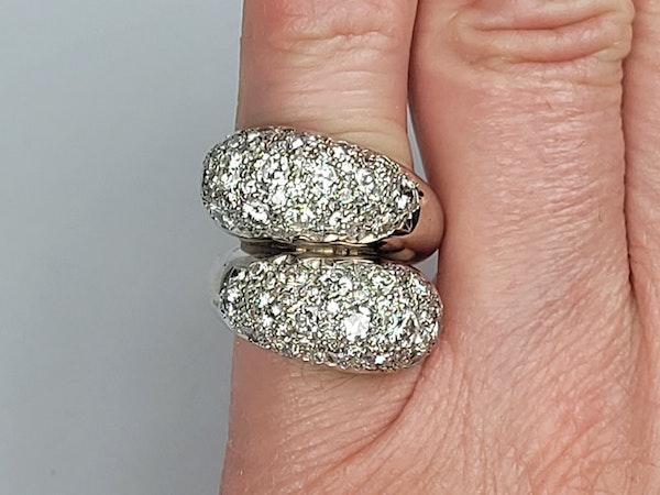 Stylish bombe diamond cross over dress ring sku 4870  DBGEMS - image 5