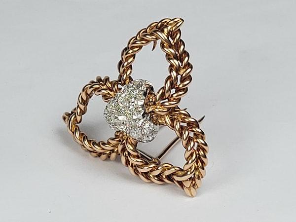 Pierre Sterle diamond clip sku 4872  DBGEMS - image 2