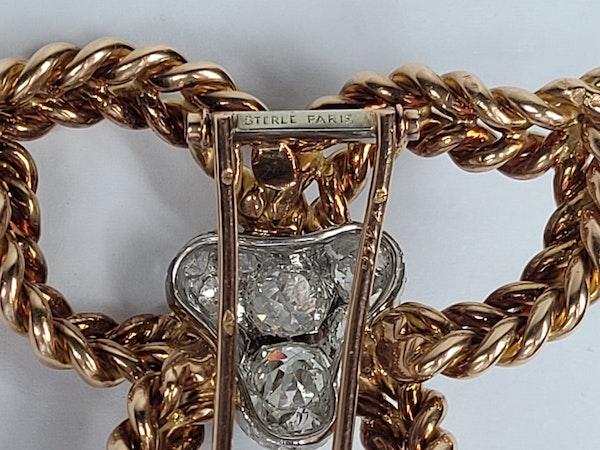 Pierre Sterle diamond clip sku 4872  DBGEMS - image 4