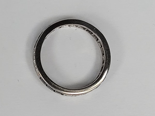 Art deco sapphire and diamond eternity ring sku 4873  DBGEMS - image 2
