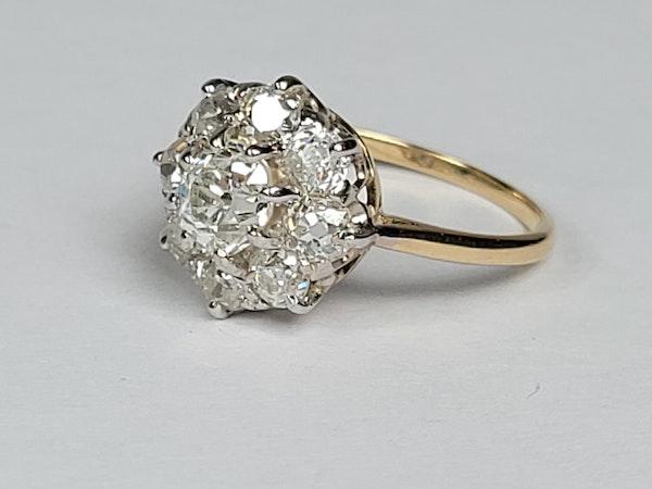 Antique diamond cluster engagement ring sku 4874  DBGEMS - image 3