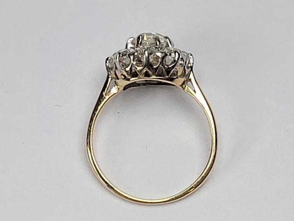 Antique diamond cluster engagement ring sku 4874  DBGEMS - image 4