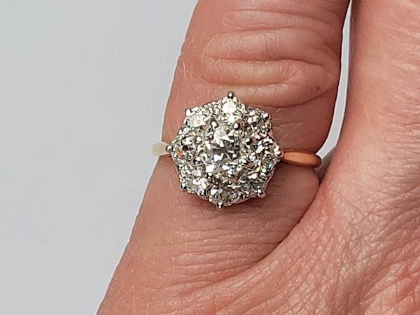 Antique diamond cluster engagement ring sku 4874  DBGEMS - image 5