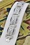 An exquisite Diamond & Sapphire Art Deco  Bracelet mounted in Platinum, English, Circa 1930 - image 3