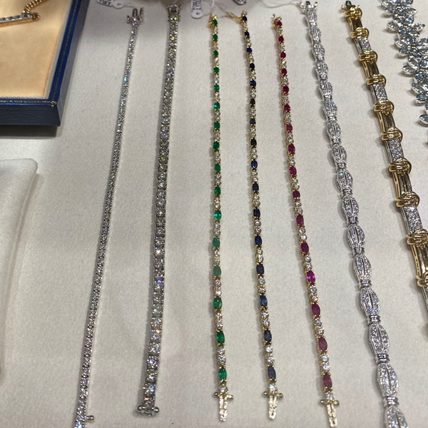 Ruby, Sapphire ,Emerald and Diamond 3 Bracelets in 18ct Gold date circa 1970, SHAPIRO & Co since1979 - image 7