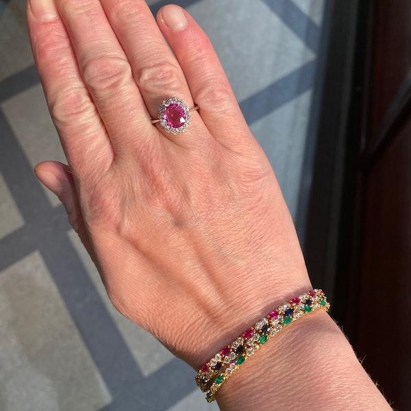 Ruby, Sapphire ,Emerald and Diamond 3 Bracelets in 18ct Gold date circa 1970, SHAPIRO & Co since1979 - image 8