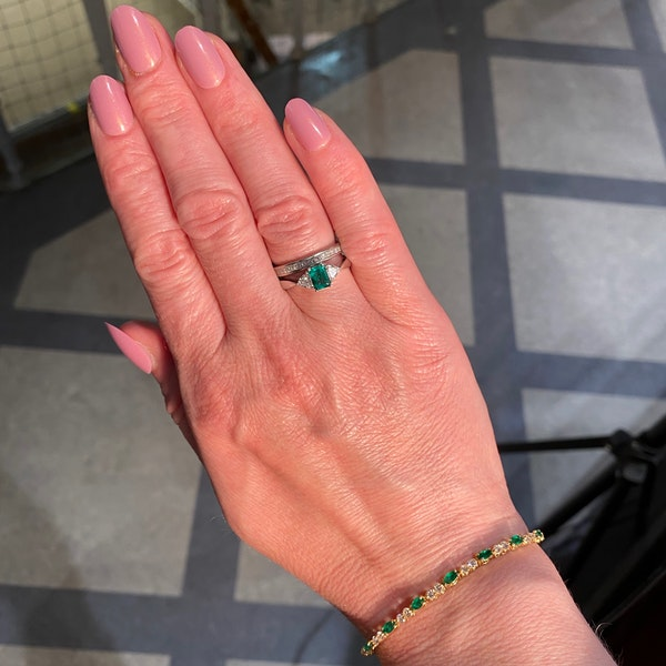 Ruby, Sapphire ,Emerald and Diamond 3 Bracelets in 18ct Gold date circa 1970, SHAPIRO & Co since1979 - image 9