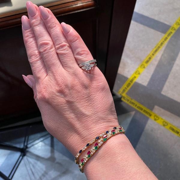 Ruby, Sapphire ,Emerald and Diamond 3 Bracelets in 18ct Gold date circa 1970, SHAPIRO & Co since1979 - image 10