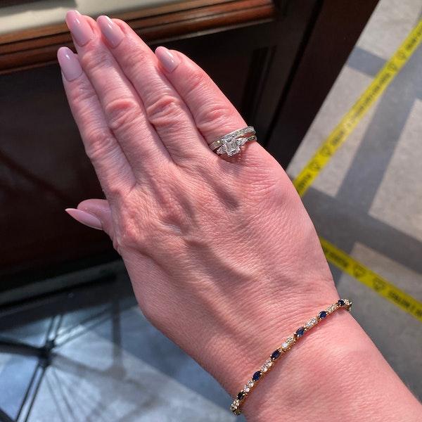 Ruby, Sapphire ,Emerald and Diamond 3 Bracelets in 18ct Gold date circa 1970, SHAPIRO & Co since1979 - image 12