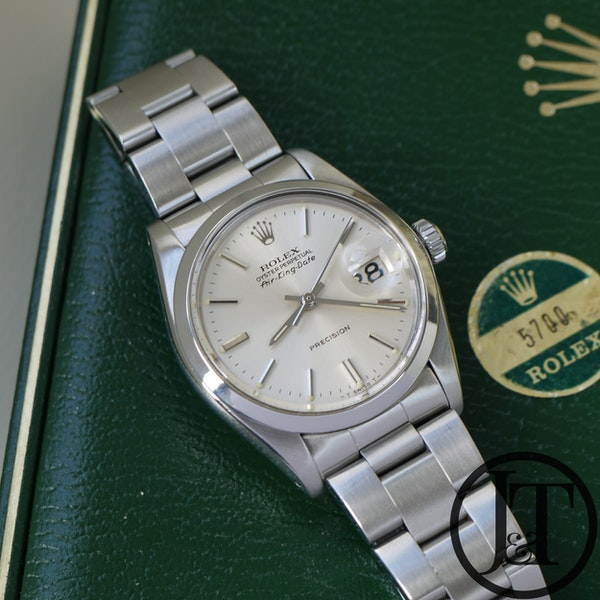 Rolex Air-King Date 5700 Silver Dial - image 3