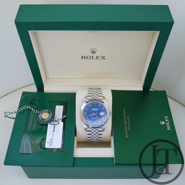 Rolex Datejust 41 126300 Azzurro Blue Dial Jubilee - image 7