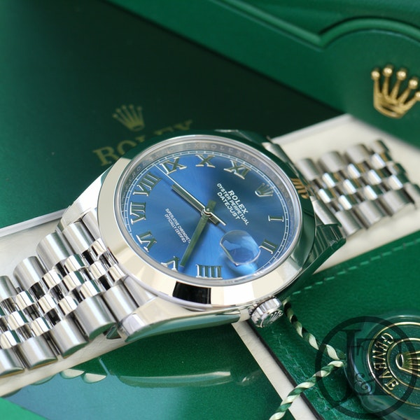 Rolex Datejust 41 126300 Azzurro Blue Dial Jubilee - image 6
