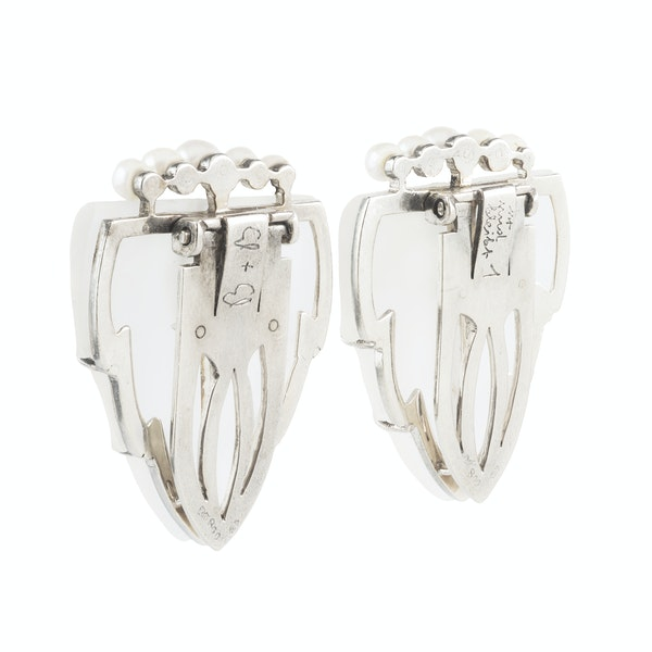 A pair of Austrian Rock Crystal Dress Clips - image 2