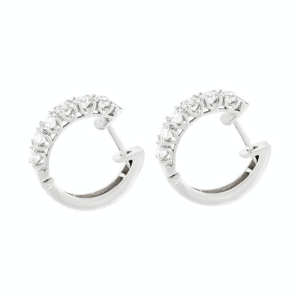 A pair of Diamond Hoop Earrings - image 2