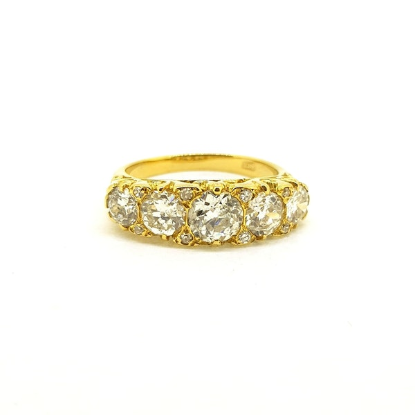 Antique Five Stone Ring - image 3