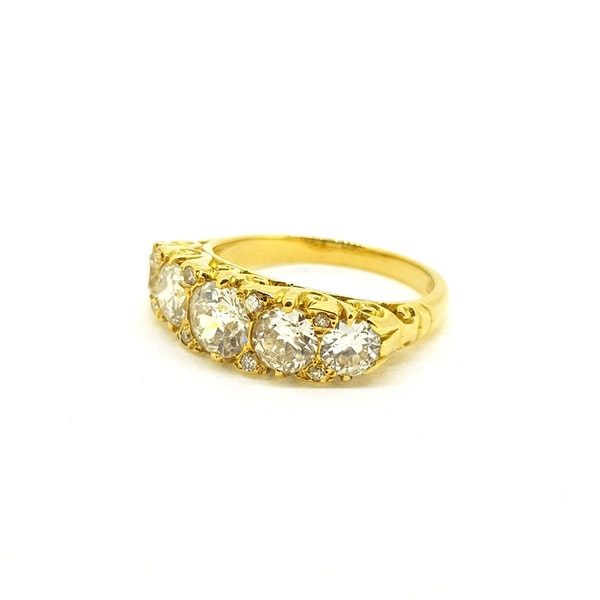Antique Five Stone Ring - image 2