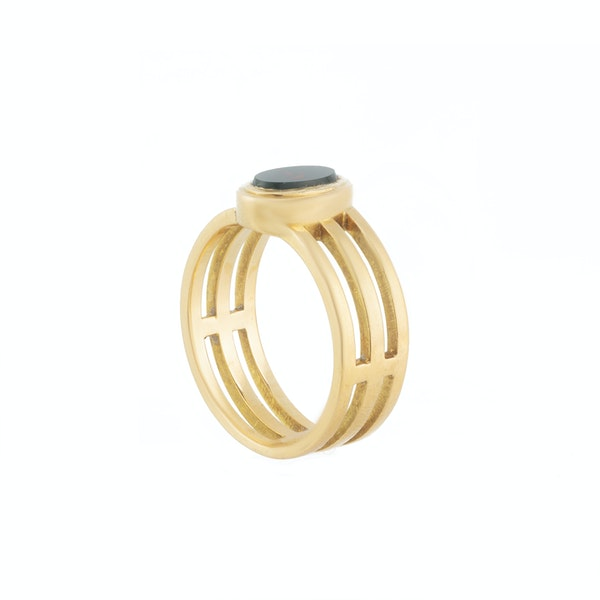A Bloodstone Signet Ring by Edward Vaughton - image 2