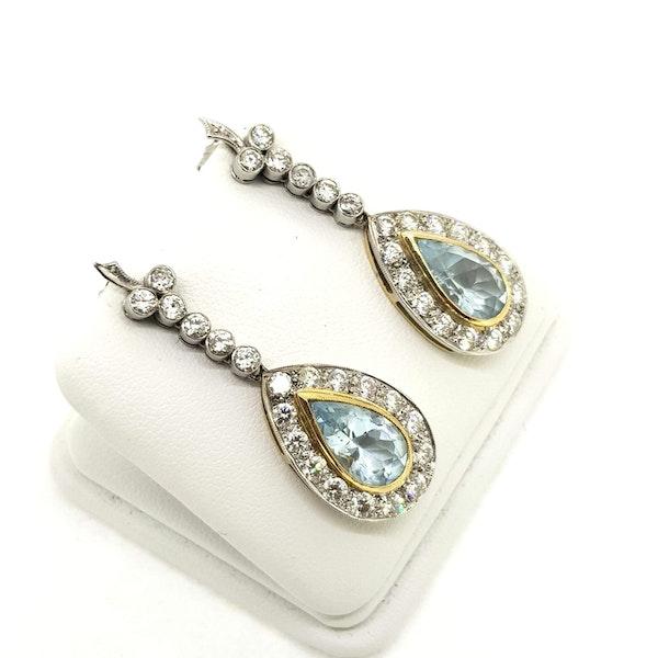 Aquamarine and Diamond Earrings - image 2