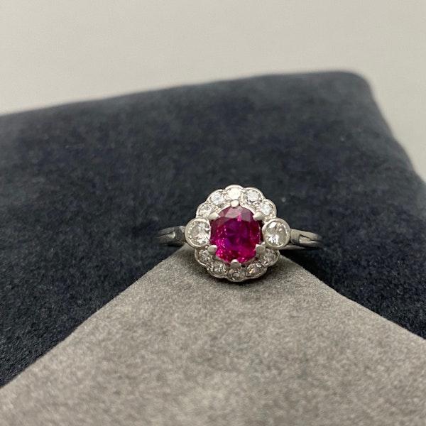 Burma Ruby Diamond Ring in Platinum date circa 1920 SHAPIRO & Co since1979 - image 2