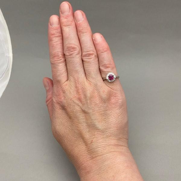 Burma Ruby Diamond Ring in Platinum date circa 1920 SHAPIRO & Co since1979 - image 4