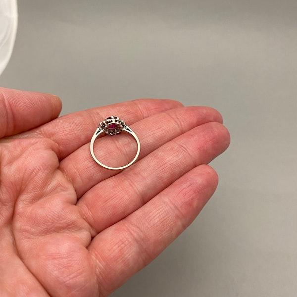 Burma Ruby Diamond Ring in Platinum date circa 1920 SHAPIRO & Co since1979 - image 5