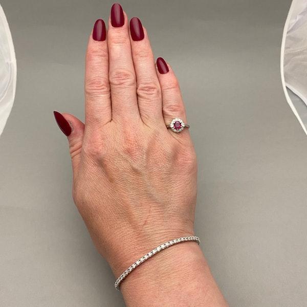 Burma Ruby Diamond Ring in Platinum date circa 1920 SHAPIRO & Co since1979 - image 10
