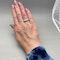 Three stone Diamond Ring in Platinum date circa 1960 SHAPIRO & Co since1979 - image 3