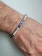 Art deco sapphire and diamond bracelet sku 4894 - image 2